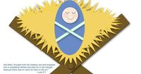 """free printable supplies for """"Put the Baby in the Manger"""" game"""