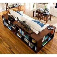 Wrap the couch in bookcases instead of using end tables. - Click image to find more DIY & Crafts Pinterest pins