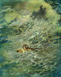 Edmund Dulac - The Mermaid - in the sea