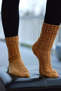 Knitting these. I think a simpler yarn like this would be even prettier than the wildly fun yarn I have, but it still looks awesome.