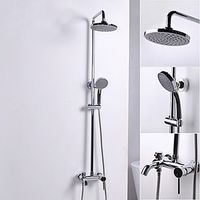 Contemporary Style Ceramic Valve Shower Faucets - Chrome Finish.jpg