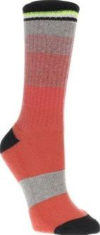 Adidas Multi Stellasport Stripe Sock Socks Ladies, pull up your socks, adidas mean business as the STELLASPORT Stripe Sock arrives. The colourful fabric training sock features a coral pink and black colourway with a ribbed cuff and cushioned h http://www....