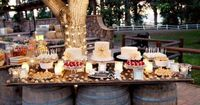 """Barrels dessert table.. love it love it love it would also bring out the """"keg table"""" that I was given from my dad and cherish as an omage to him -lindsay"""