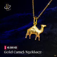 The camel in pendant of this necklace by FKJewellers really catches the eye.  �–� Product type: Gold Camel Necklace  �–� Price: 45.500KD �–� Weight: 2.300 Grams �–� Free Delivery �–� Karat: 18 Karat �–� Part Numbe...