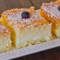"Magic Cake �€"" one simple thin batter, bake it and voila! You end up with a 3 layer cake, magic cake."