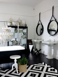 greige: interior design ideas and inspiration for the transitional home : Bold in black... 47 Park Avenue