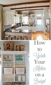 How to Update Your Kitchen on a Budget The kitchen truly is the heart of the home! Don't believe me? Try throwing a party and see where everyone in the house te