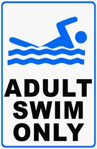 Adult Swim Only Sign $15.99