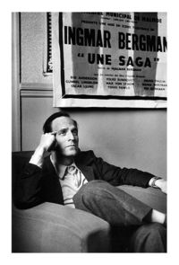 Ingmar Bergman, Paris, Avril 1959. i would go to all his films when i was in high school. hour of the wolf.