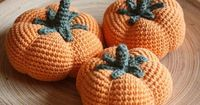 Crocheted pumkins