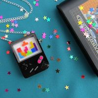 Gameboy Tetris Necklace {from Hand Over Your Fairy Cakes}
