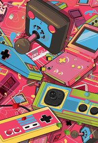 retro, nintendo and behance.