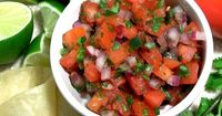 This quick and easy pico de gallo is as an appetizer or addition to dinner.