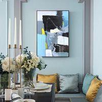 Modern Abstract acrylic painting on canvas blue texture Large Wall Art Picture for living room Home Decor Nordic cuadros quadros decoracion $89.00