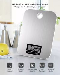 Minleaf ML-KS2 Kitchen Scale 5kg/1g Stainless Steel LCD Display Electronic Kitchen Scale Digital Food Scale High Precision Measuring Tools