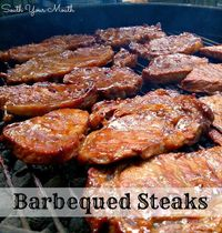 steaks, mouths and main dishes.