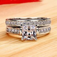 Gullei.com Engraved 0.8 Carat NSCD Diamond Gold Plated Silver Engagement Ring