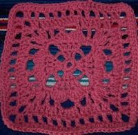 Dayna's Crochet - Free Patterns - Four Hearts Granny Square
