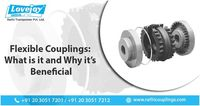 Flexible couplings are utilized to transmit torque starting with one shaft then onto the next when the two shafts are marginally misaligned.  https://rathicouplings.com/blog/flexible-couplings-what-is-it-and-why-its-beneficial/