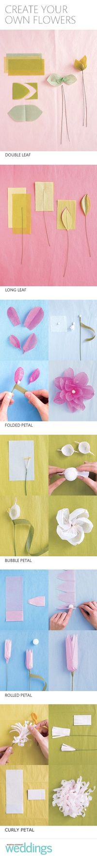Learn how to craft these paper flowers