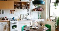 i love a round kitchen table - encourages cosy dinners and chatting with your kids. brian-w.-ferry-photography