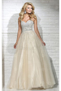 Ball Gown Sleeveless Zipper Tulle Prom Dresses
