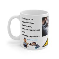 Ceramic Famous Quote Mug, Graphic and Saying Fake News. This 11oz. mug makes a great forever gift