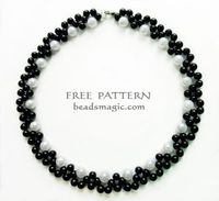 Free pattern forbeaded necklace Gatsby