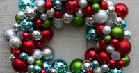 Create you own beautiful Christmas wreath using all those extra Christmas bulbs you bought on clearance last year with this easy to follow tutorial and lots of hot glue.
