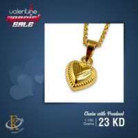 Make your Valentine day more romantic by wearing this heart shape pendant with chain. �–� Product type: Gold Necklace  �–� Price: 23KD �–� Weight: 1.100 Grams �–� Free Delivery  �–� Karat: 18 Karat  �œ…100...