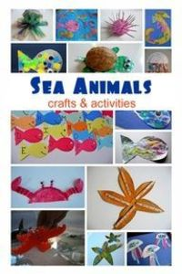 Ocean Animal Crafts For Kids to go with Ocean Research unit