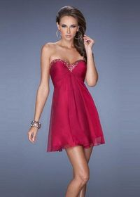 Cranberry Strapless Sequin Neckline Cheap Short Prom Dress
