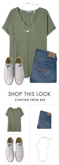"""""""{It's getting cold again}"""" by star-lit-fashion � liked on Polyvore featuring Abercrombie & Fitch, Converse and Kendra Scott"""
