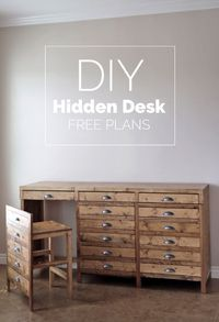 Ana White   Hidden Desk Apothecary Cabinet - DIY Projects