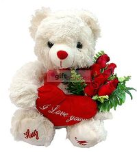 I love you cushion 30cm in height, you can import to order flowers 11 red Güllü bear bouquet. Tropic to the Flower (Istanbul, Ankara is in) Reduced: 35,00 TL