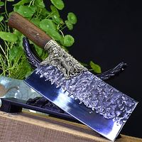 Handmade Chinese Cleaver Chef Kitchen Knife Home Cooking Tool ILS653.00