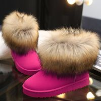 Winter Warm Women Fur Snow Shoes Flats Ankle Snow Boots Women 2020 Fashion Black Round Toe Casual Slip on Ladies Boots Hot Sale  US $17.89