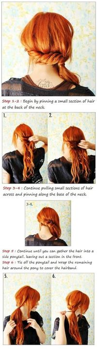 Twisted Side Ponytail Tutorial-