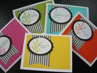 Handmade Greeting Cards Set of 5, Birthday Card, Get Well Soon Card, Thinking of You Card, Thank You Card