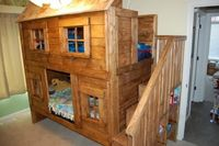Rustic Cabin Bunk Bed   Do It Yourself Home Projects from Ana White