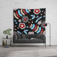 Bohemian Flowers Wall Tapestry.
