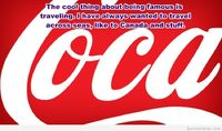 Famous quote on background coca cola