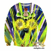 Dragon Ball Z Sweatshirt - Terrestrial Flash Android #16 $29.99