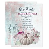 Pumpkin Berries Thanksgiving Dinner Invitation