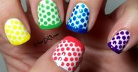 Now this is a fun look for summer nails. via AmberDidIt.com