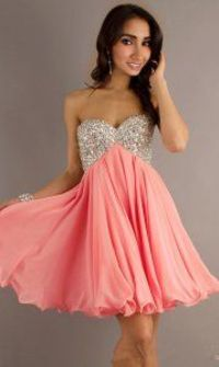Short Beaded Lace Up Strapless Prom Dresses