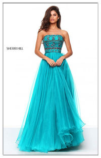 Organza Hot Sale Sherri Hill 50344 Beaded Formal Gown For Prom