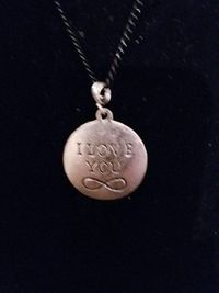 I Love You To Infinity Silver Pendant Necklace $5.00