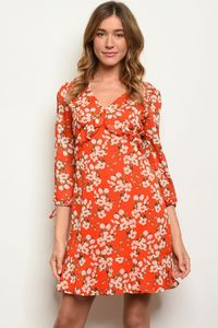 RED WITH FLOWER PRINT $140.31