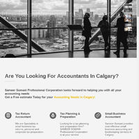 Sameer Somani Professional Corporation accounting firm in Calgary with a full range of accounting services for corporate and individuals! Get a free estimate today!